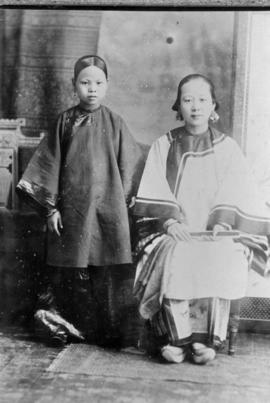 Two female members of the Yip family