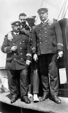 [Unidentified men and crew of the Camosun]