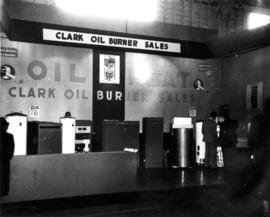 Clark Oil Burner Sales display of furnaces