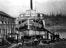 "[S.S. ""Robert Dunsmuir"" in dry dock at Cates Shipyard]"