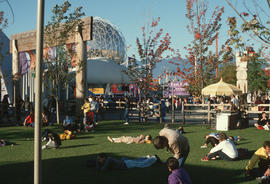 [Expo 86, people in park]
