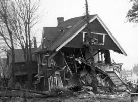 [House being demolished in the 1300 block of West Georgia Street]