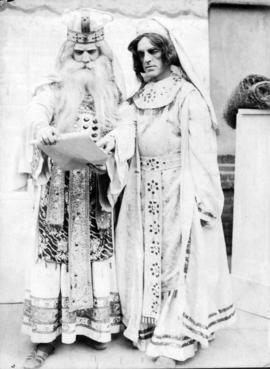 "[Alfred T. Layne, actor, as ""King"" with fellow actor as ""Queen""]"