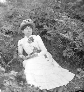 Esther [reclining in a garden]