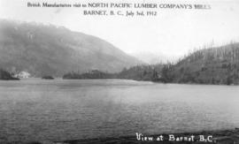 View at Barnett - British Manufacturers Visit to North Pacific Lumber Company's Mills