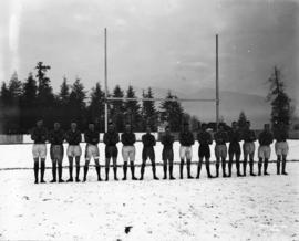 Varsity rugby team, Christmas 1921 [at Brockton Point]