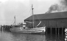 [The St. Roch at dock in Vancouver Harbour]