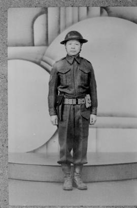 Wing Wong in army uniform