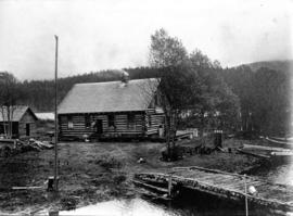 [Rainbow Lodge store and post office in a log building]