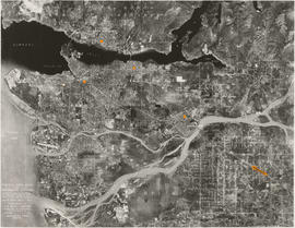 Composite Aerial Mosaic of Metropolitan Vancouver Compiled from 50 Individual Photographs Taken i...