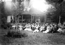 Picnic of the graduating class of the Vancouver General Hospital [at Orlomah Beach] : Some one is...