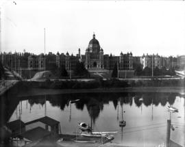 [Parliament buildings from Victoria's Inner Harbour]