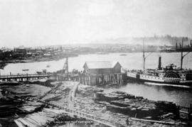 Looking West from Hastings Mill 1886