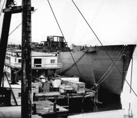 [A freighter under construction at West Coast Shipbuilders Limited]