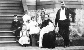 [Mr. and Mrs. J.J. Nickson and their children]