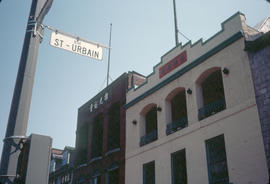 St. Urbain street sign in Montreal Chinatown