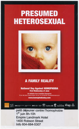 Presumed heterosexual : a family reality : national day against homophobia : first Wednesday of June