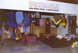 Guatemala display of hand woven apparel by Mayan Indians