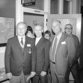 [Portrait of Alex Hadden, Bert Donohue and Ken Lawn at a Sir William Dawson School reunion]