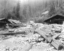 [Buildings destroyed by the Seymour Creek washout]