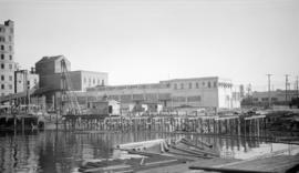 [Vancouver Harbour Commission wharf under construction]
