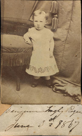 Benjamin Tingley Rogers] as a child