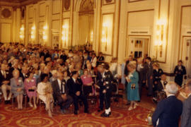 Distinguished Pioneer Awards attendees seated in the Hotel Vancouver Grand Ballroom