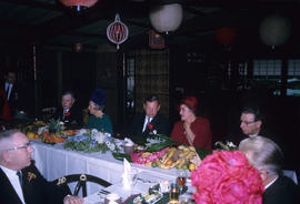 Inauguration lunch at Trader Vic's, head table [with] J.D. Wilson and Rev. Gorwill