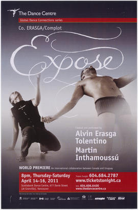 Expose : created and performed by Alvin Erasga Tolentino [and] Martin Inthamoussu : The Dance Cen...