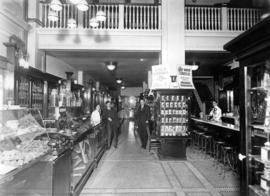 [Interior of Burns and Cairns Drug Store at 732 Granville Street]
