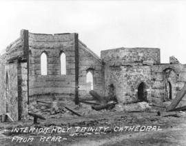 Interior Holy Trinity Cathedral from rear [after fire of September 10, 1898]