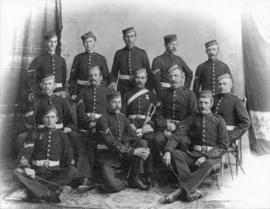 [Studio portrait of Non Commissioned Officers of No. 4 Company 5th R.G.A. [Regiment Canadian Garr...