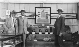 Vanc. Ex. [Vancouver Exhibition - Mayor L.D. Taylor with] Pres. Brittannia Mines and engineer [at...