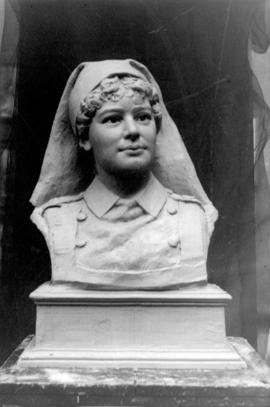 [Clay model for bronze bust of Emily Matthews]