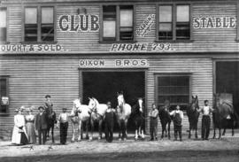 [Exterior of Dixon Bros. Livery Stables - 646 Hornby Street]