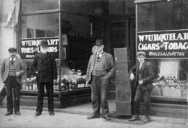 Wm. Urquhart Wines and Liquors, Cigars and Tobacco, storefront