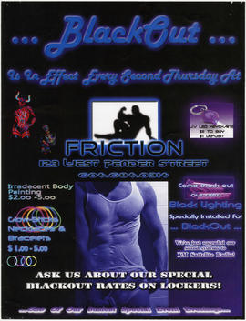 Blackout is in effect every second Thursday at Friction, 123 West Pender Street