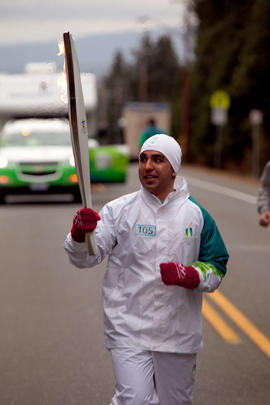 Day 004, torchbearer no. 105, Mandeep Hayer - Comox