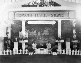 David Hall sign painting display