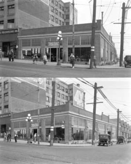 [Two views of Gray Dort Motor Cars, Granville Street at Pacific]