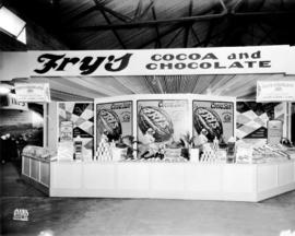Fry's display of cocoa and chocolate products