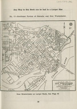 Sectional map and street directory of Vancouver, British Columbia : map of New Westminster and pa...