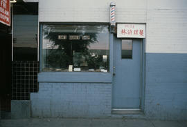 Lam's Barber Shop storefront in Edmonton Chinatown