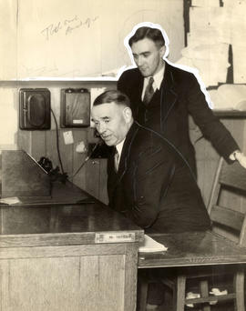 Gerald McGeer during radio broadcast