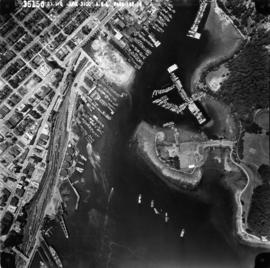 Aerial photo, vertical, Deadman's Island, Coal Harbour and surrounding area