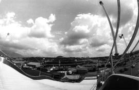 View of P.N.E. Playland from the top of slide