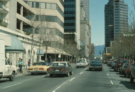 Hornby Street looking north between Smithe and Robson Streets