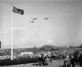 Planes over P.N.E. grounds during R.C.A.F. Flypast event on Armed Forces and Veterans' Day