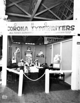Graham Hirst Co. display of Corona typewriters
