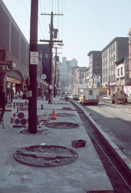 [View of] Water St[reet under construction]